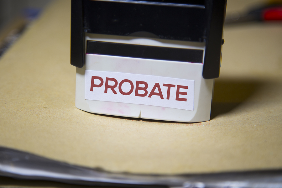 Probate Stamp On Paperwork